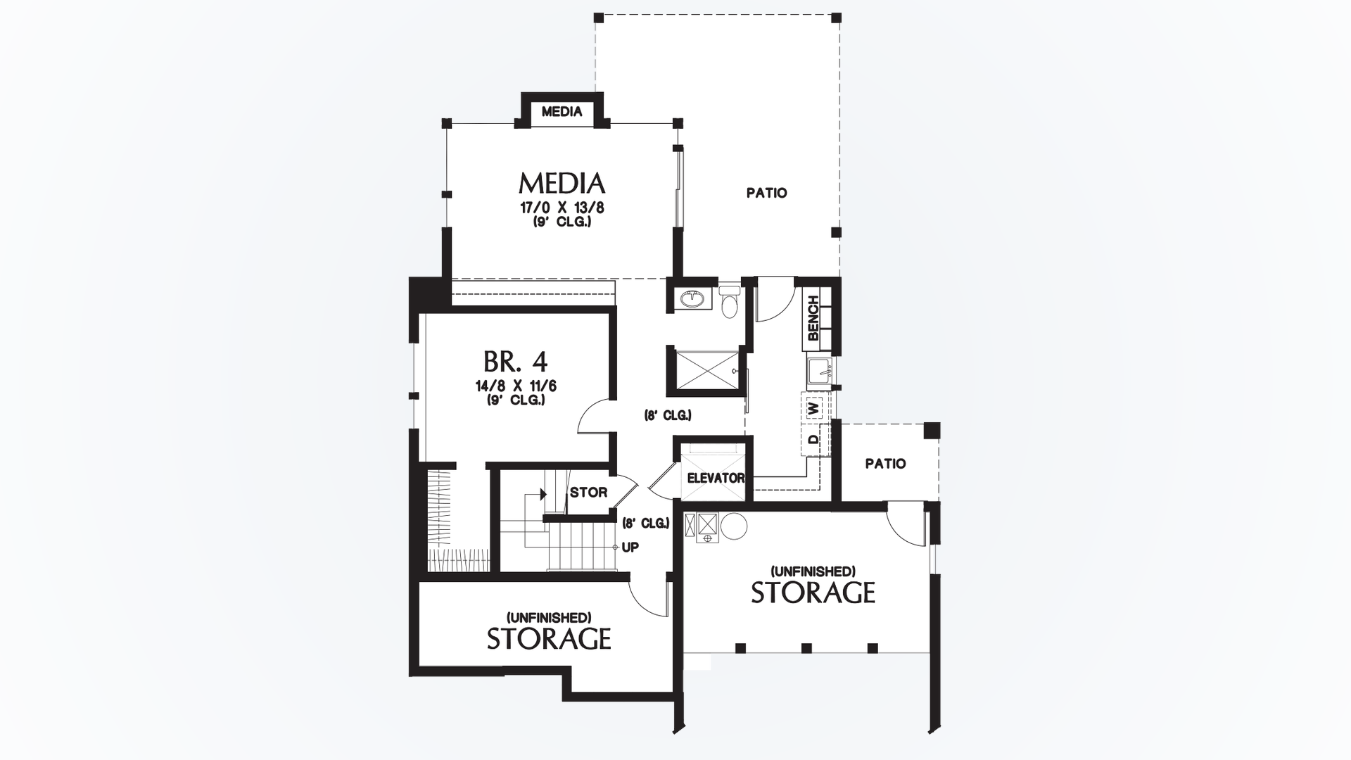 Contemporary house plan 23101 the ontario 3026 sqft 4 for Modern house plans ontario