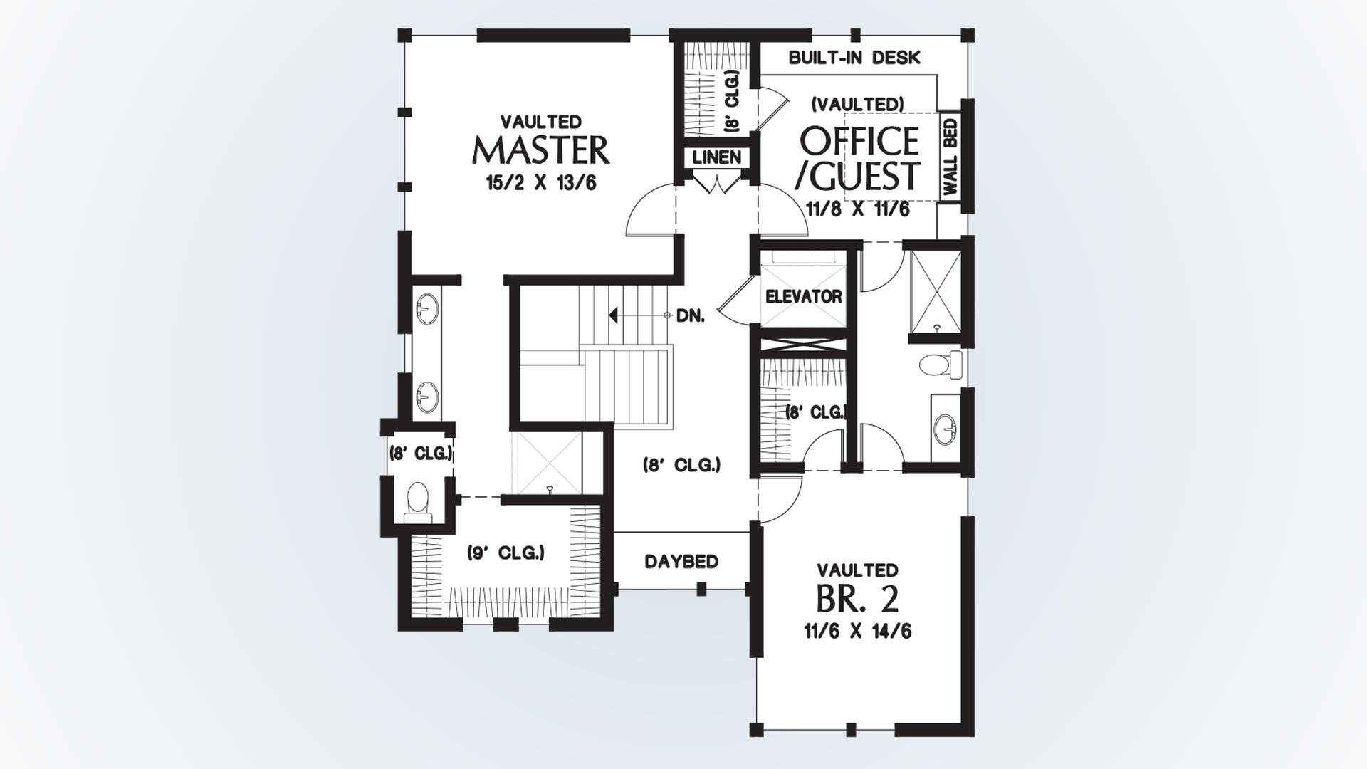mascord house plan 23101 the ontario upper floor plan pin enlarge flip