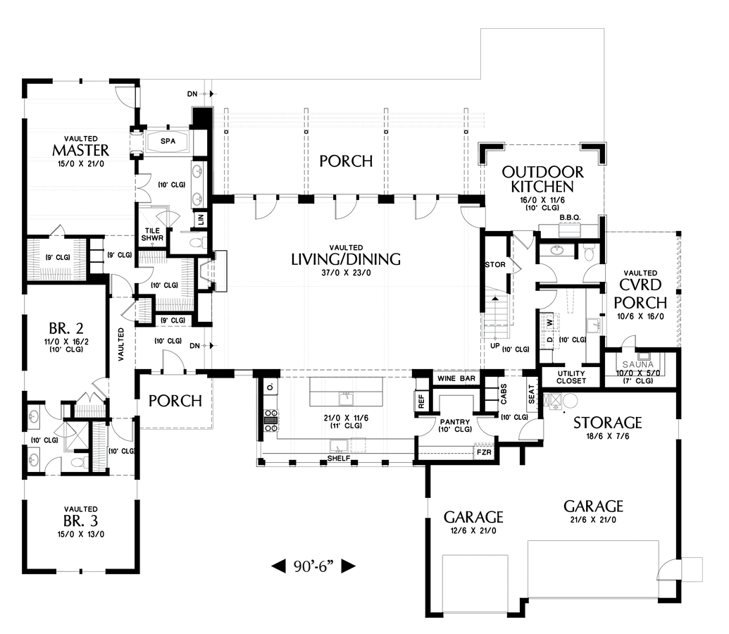 Contemporary house plan 23102 the tilikum 3681 sqft 3 for Main level floor plans