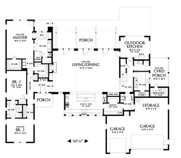 Image for Tilikum-Pacific North West Industrial Loft Style Living-Main Floor Plan