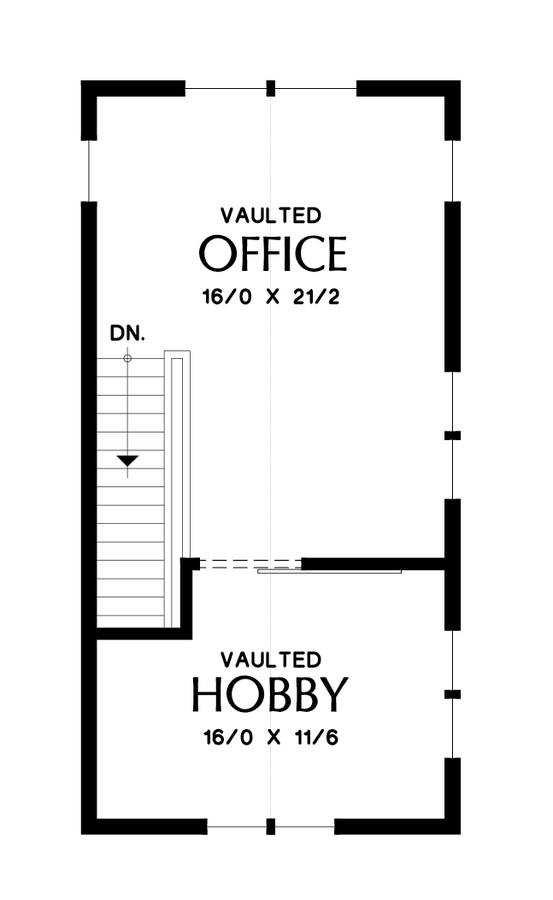 Image for Tilikum-Pacific North West Industrial Loft Style Living-Upper Floor Plan
