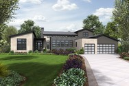 Front Rendering of Mascord House Plan 23102 - The Tilikum