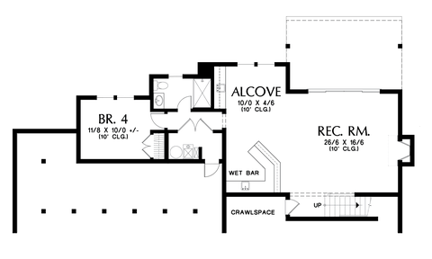 Image for Boyega-Some Work and Lots of Play in an Adventurous Home-Lower Floor Plan