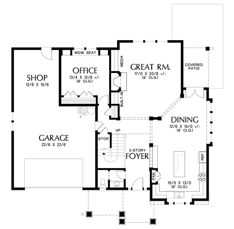 Image for Ridley-Rich Craftsman with Luxurious Extras -Main Floor Plan