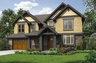 Front Rendering of Mascord House Plan 23105 - The Ridley