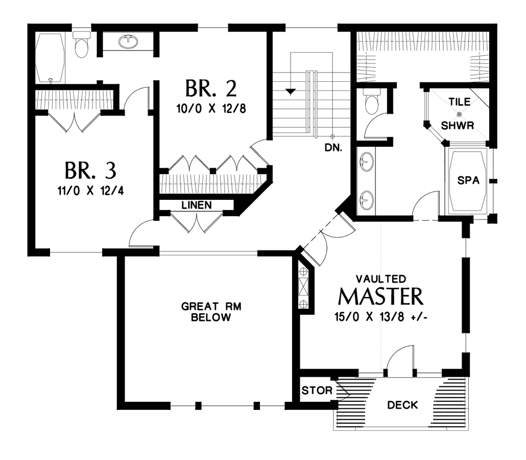 Craftsman House Plan 23106 The Tannen 3439 Sqft 4 Beds