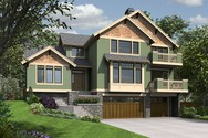 Front Rendering of Mascord House Plan 23106 - The Tannen