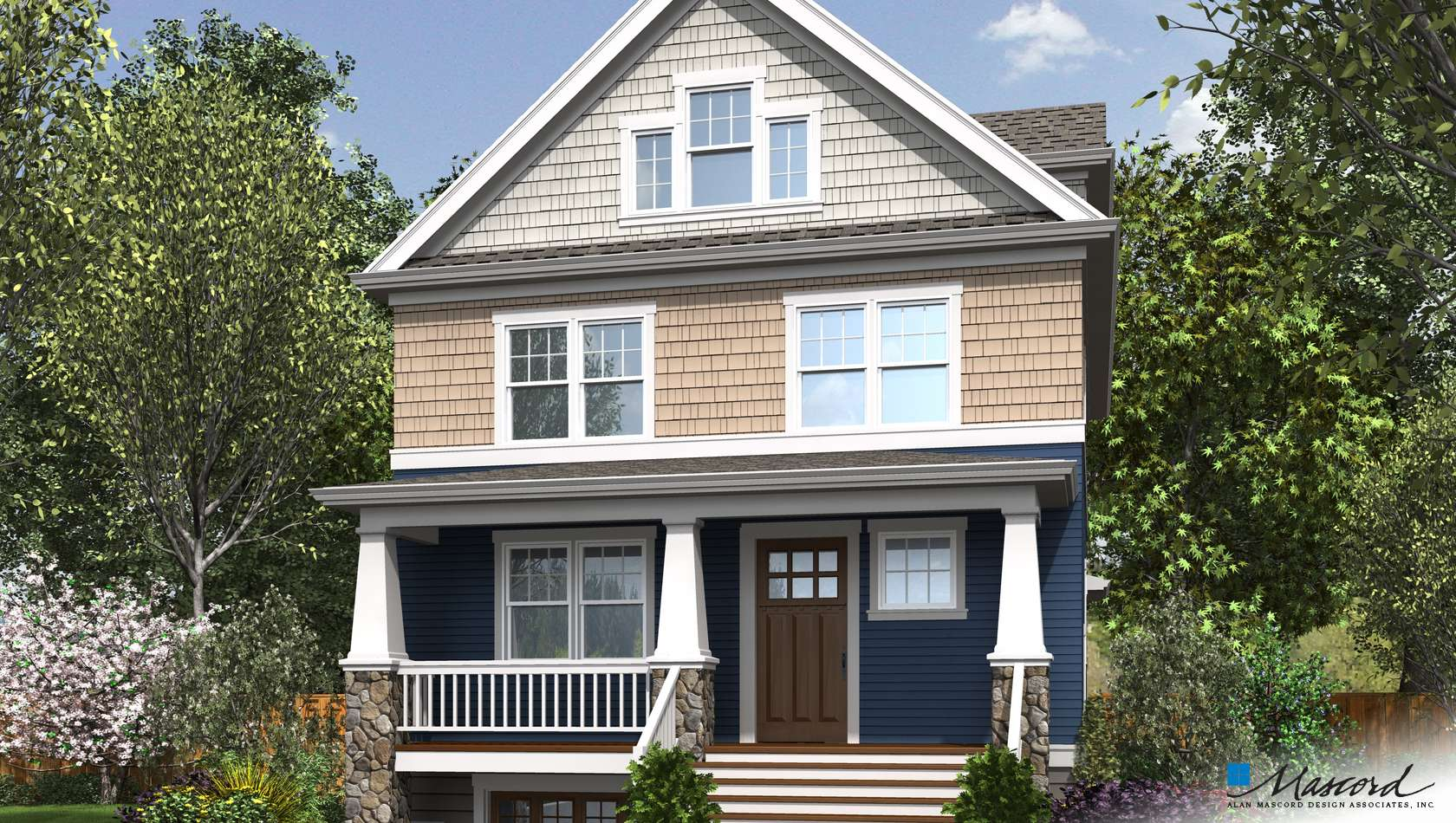 Mascord House Plan 23108: The Manchester