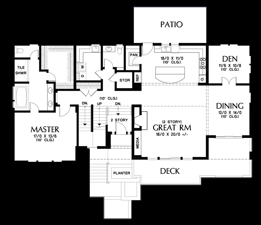 mascord house plan 23110 the milwaukee