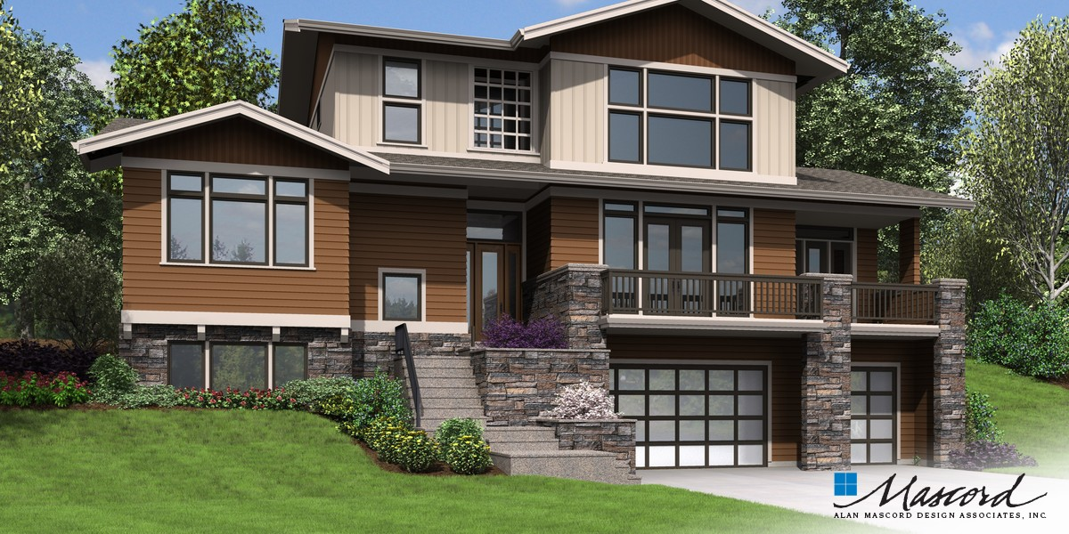 Image for Milwaukee-Charming Contemporary Design for Sloped Lots-Front Rendering