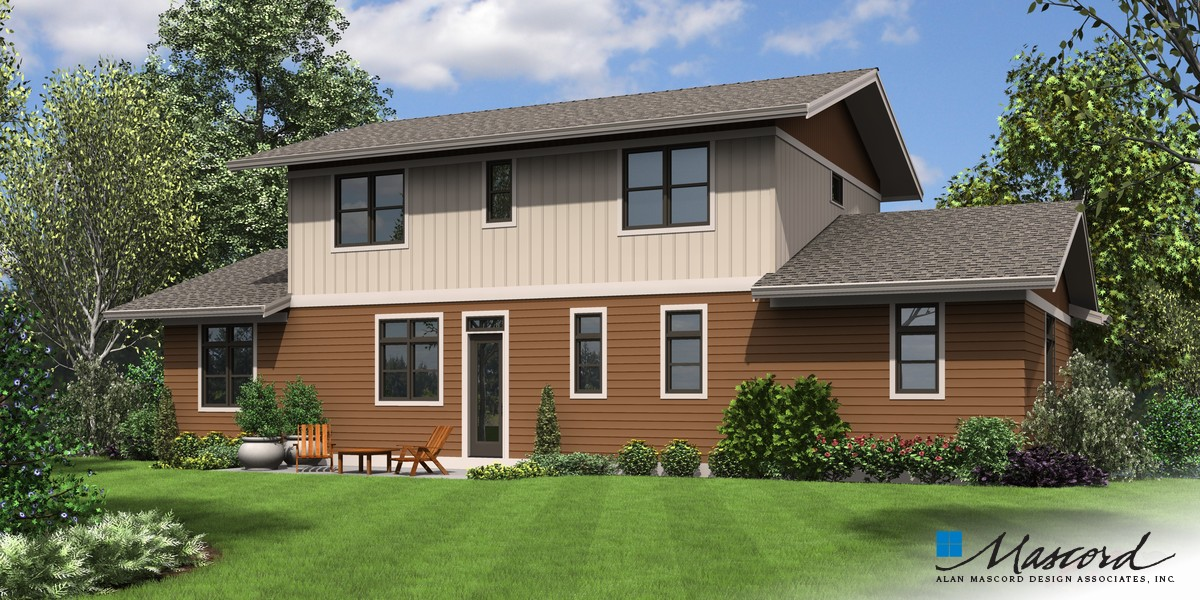Image for Milwaukee-Charming Contemporary Design for Sloped Lots-Rear Rendering