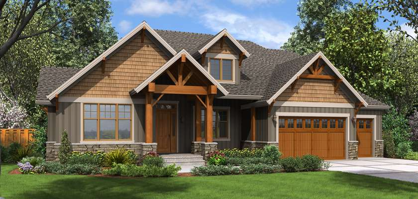 Mascord House Plan 23111: The Edgefield