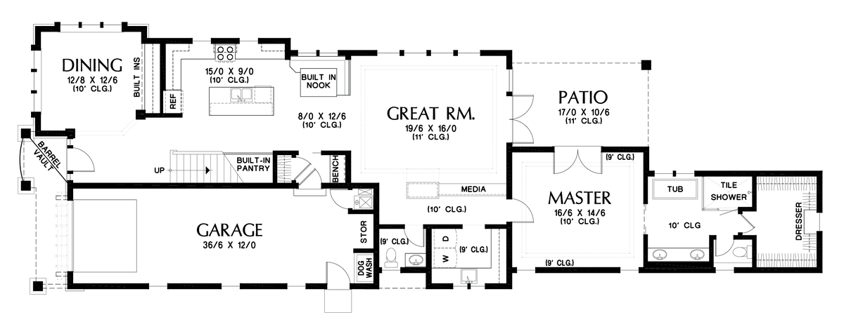 Image for Olympus-Extensive Amenities Packed into a Narrow Footprint-Main Floor Plan