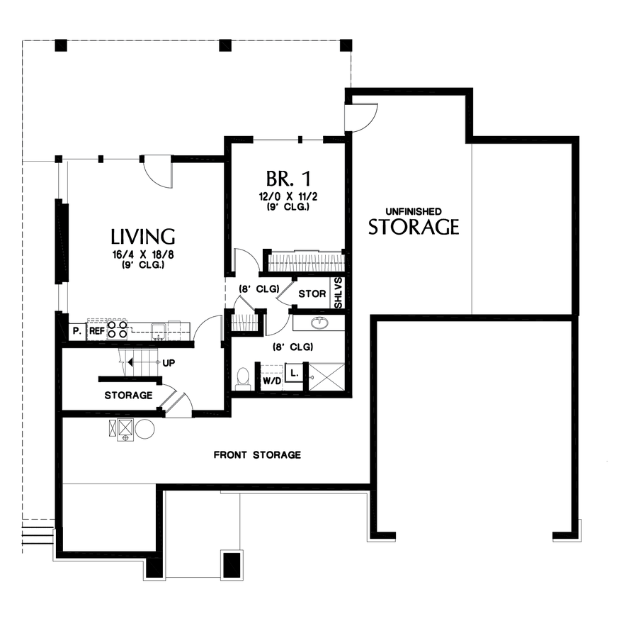 Image for Springlake-Popular Craftsman with Apartment Below-Lower Floor Plan
