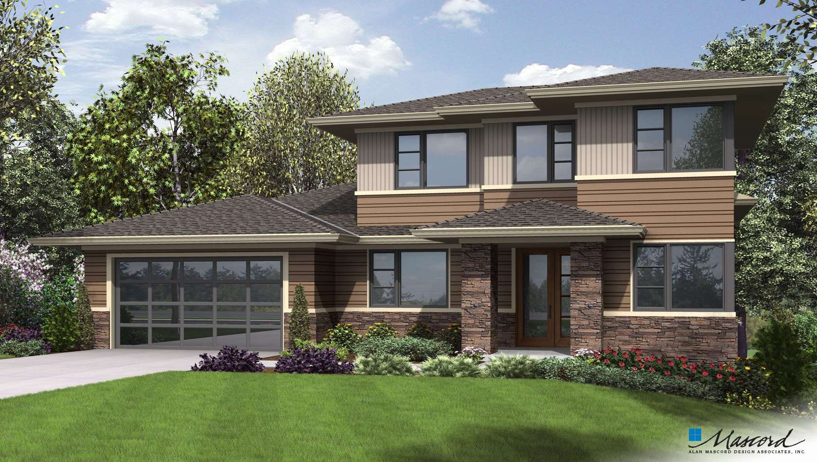 Mascord House Plan 23113: The Springlake