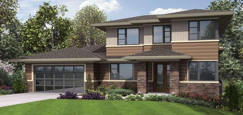 Mascord House Plan 23113: The Springlake