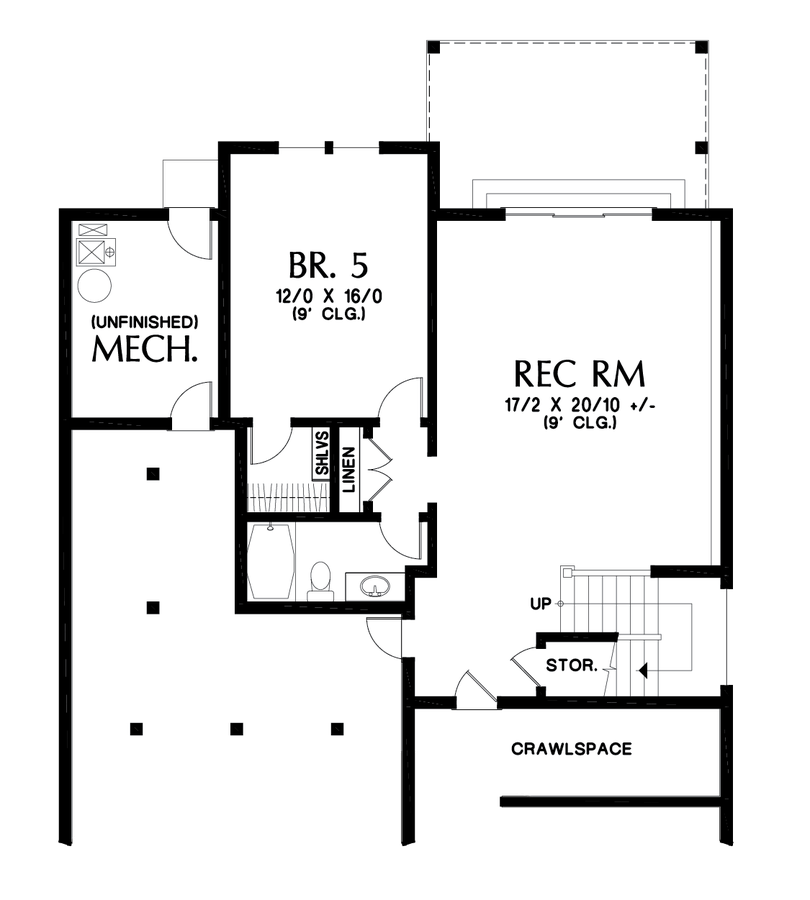 Image for Summerfell-Plan 2230CE with walkout basement-Lower Floor Plan
