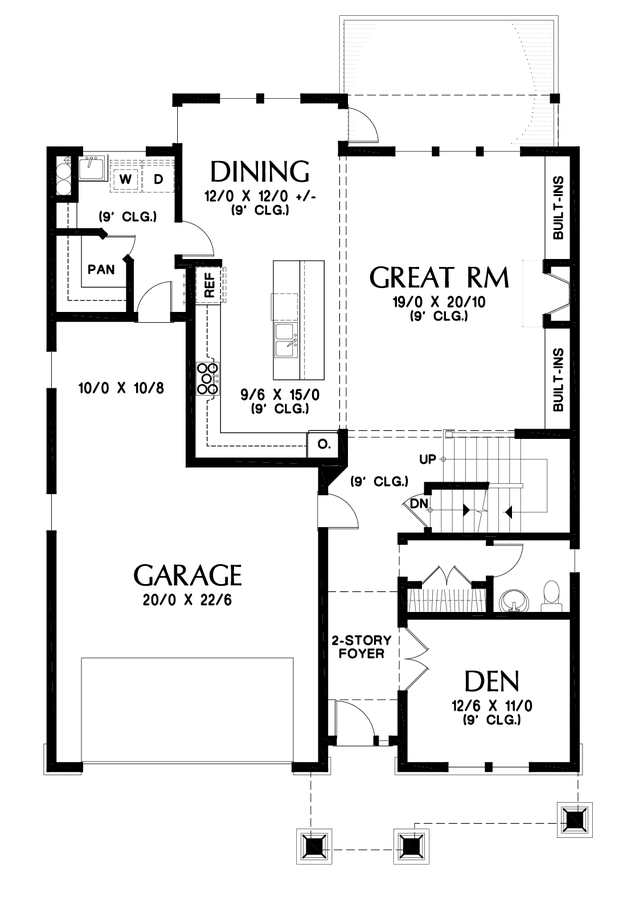 Image for Summerfell-Plan 2230CE with walkout basement-Main Floor Plan