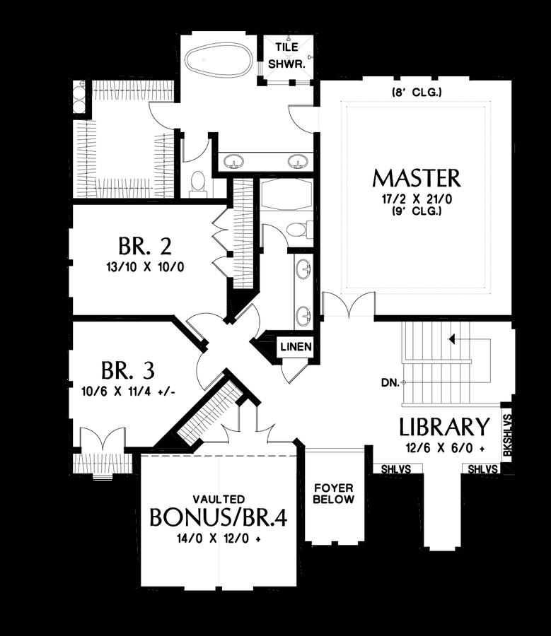 Image for Summerfell-Plan 2230CE with walkout basement-Upper Floor Plan