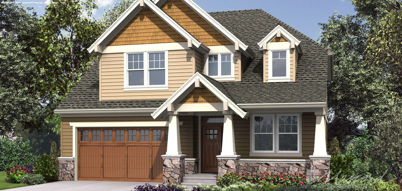 Mascord House Plan 23114A: The Summerfell