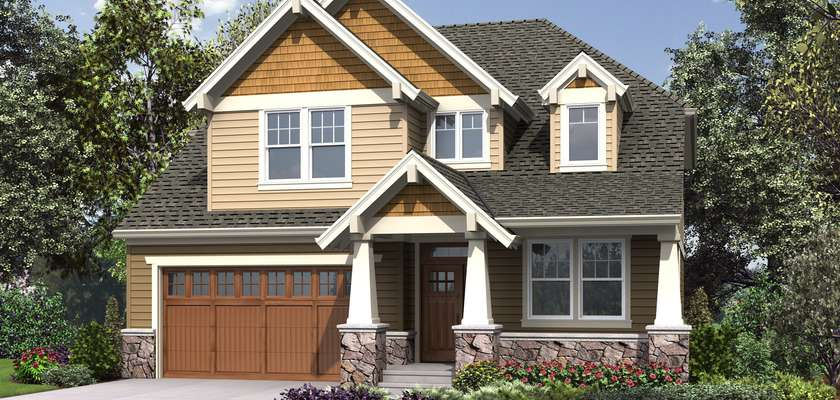 Mascord House Plan 23114A: The Summerfell