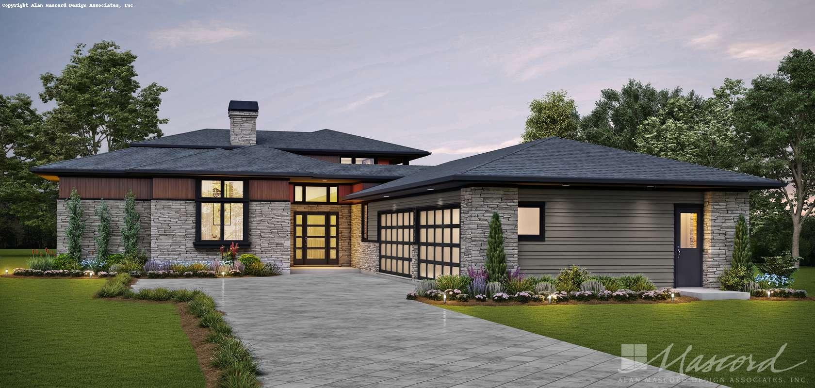 Mascord House Plan 23116: The Lucas