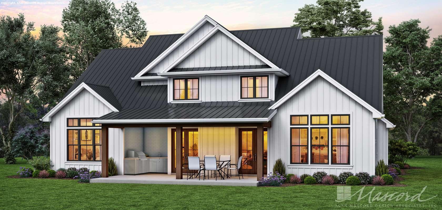 Mascord House Plan 23117: The Sanada