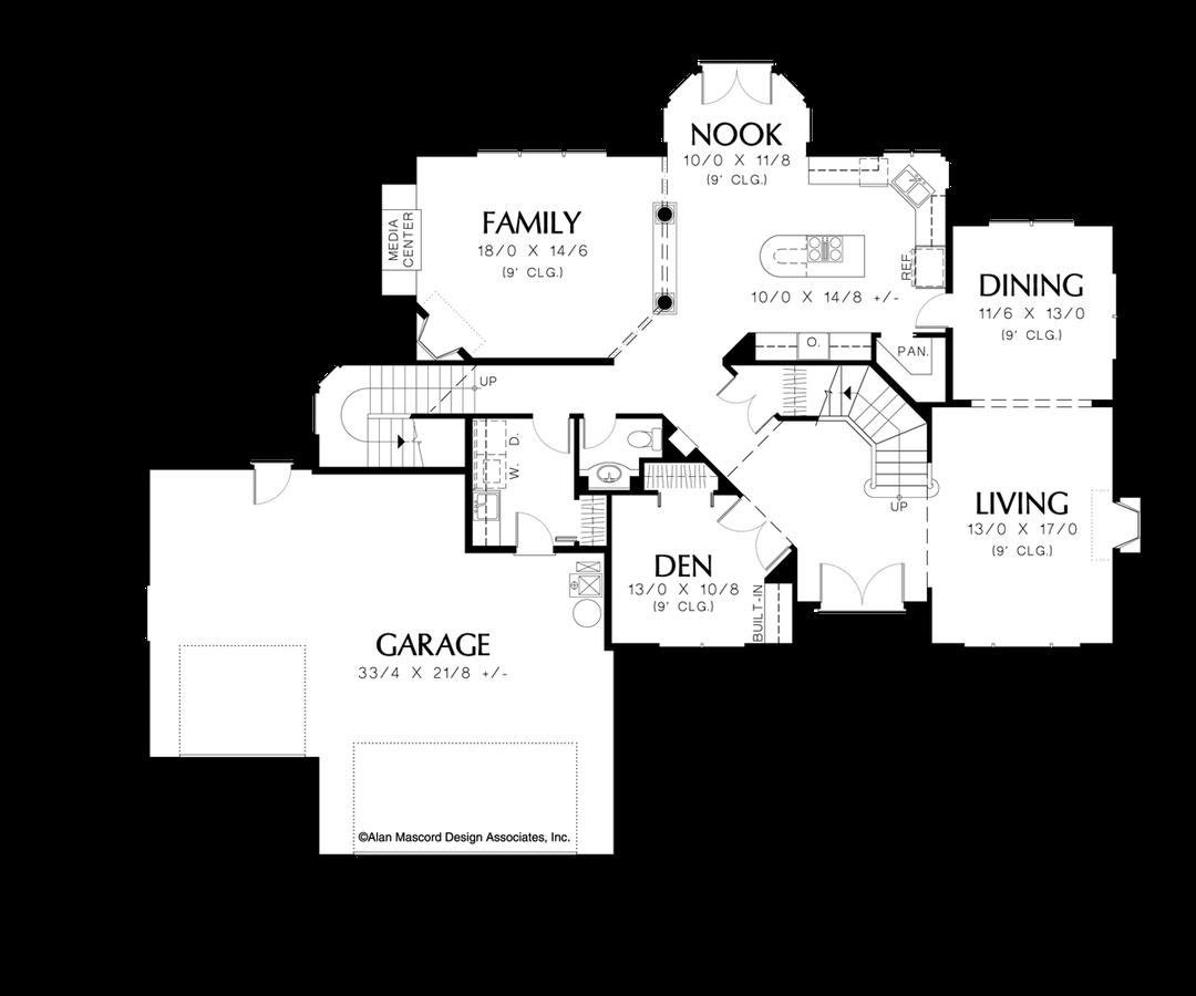 Image for Rosenfeld-Four Bedrooms Plus Bonus on Upper Level-Main Floor Plan