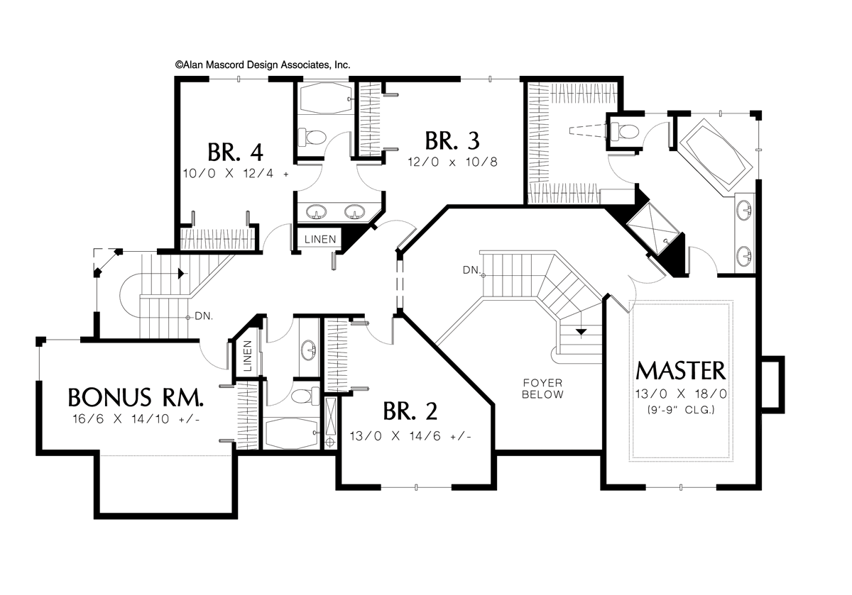 Image for Rosenfeld-Four Bedrooms Plus Bonus on Upper Level-Upper Floor Plan