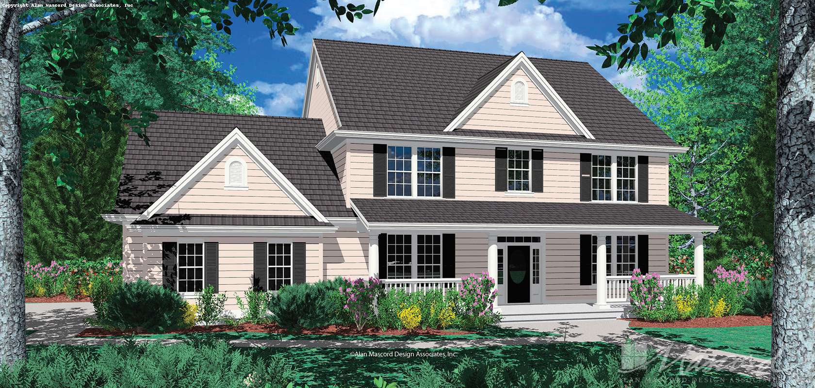 Mascord House Plan 2322F: The Cameron