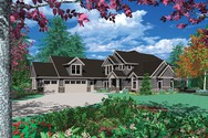 Front Rendering of Mascord House Plan 2345C - The Jimmerson