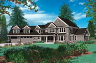Front Rendering of Mascord House Plan 2346 - The Kaiser