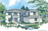 Front Rendering of Mascord House Plan 2347 - The Gardell