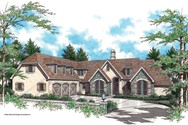 Front Rendering of Mascord House Plan 2350 - The Estherwood