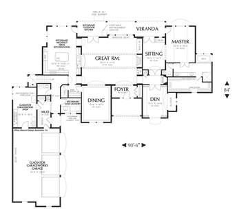 House plan 2351 the farnsworth floor plan details for Farnsworth house floor plan