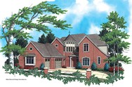 Front Rendering of Mascord House Plan 2354 - The Findlay