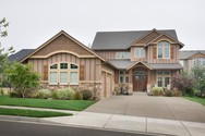 Front Exterior of Mascord House Plan 2357 - The Lafayette