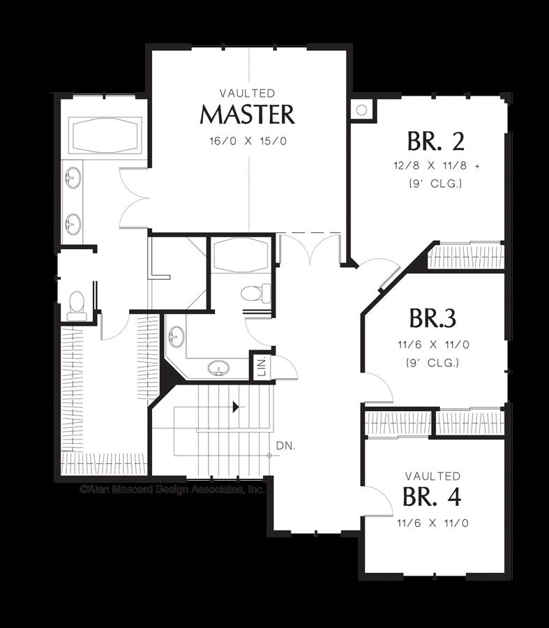 Craftsman house plan 2357 the lafayette 3254 sqft 5 for House plans lafayette la