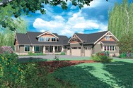 Front Rendering of Mascord House Plan 2362 - The Leesville