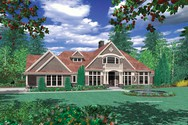 Front Rendering of Mascord House Plan 2364 - The Reyes