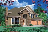 Front Rendering of Mascord House Plan 2365 - The Elegans