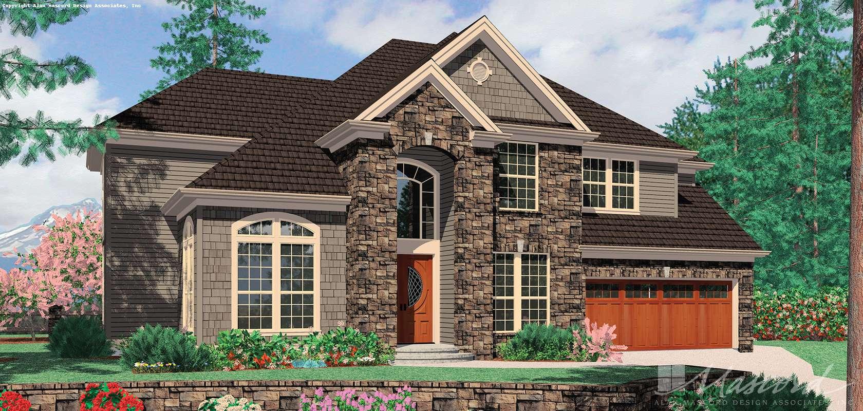 Mascord House Plan B2368: The Sedgwick