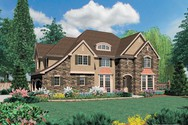 Front Rendering of Mascord House Plan 2369 - The Campbell