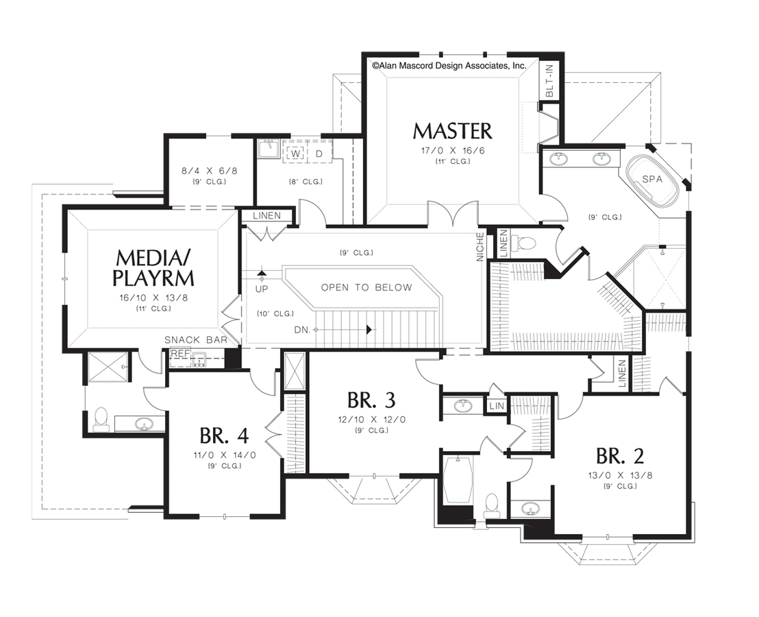 Cottage House Plan 2369 The Campbell 3841 Sqft 4