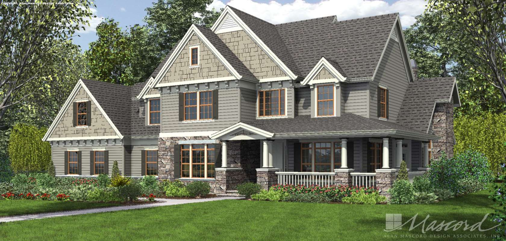 Mascord House Plan 2371: The Masonville