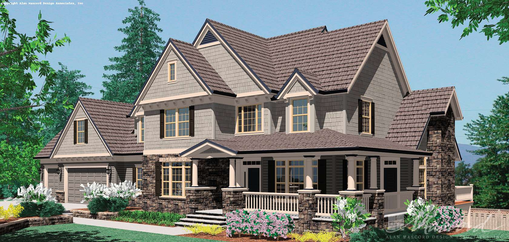 Mascord House Plan 2371A: The Hayfield