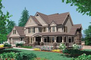Front Rendering of Mascord House Plan 2371A - The Hayfield