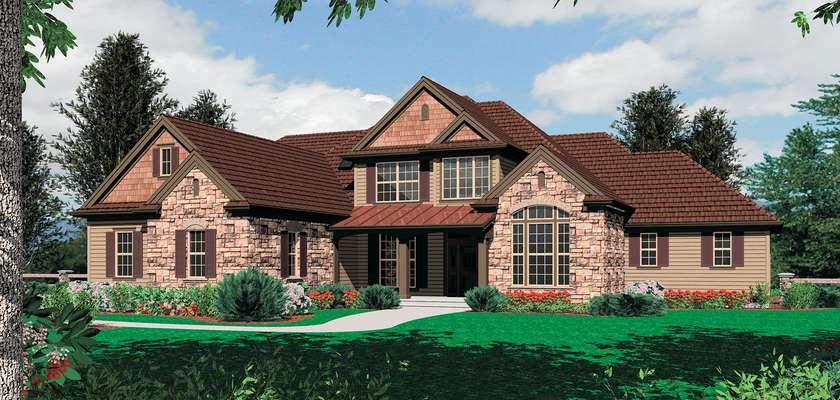 Mascord House Plan 2372: The Bedford