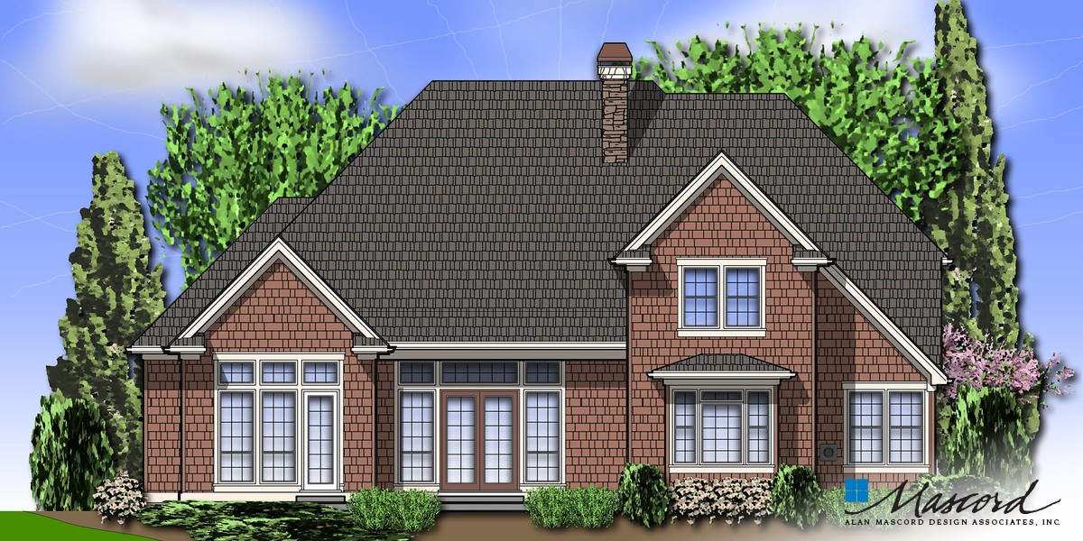 Image for Marlow-L-Shaped Cape Cod Style Home-Rear Rendering
