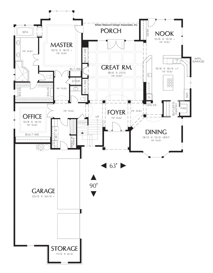 Image for Marlow-L-Shaped Cape Cod Style Home-Main Floor Plan